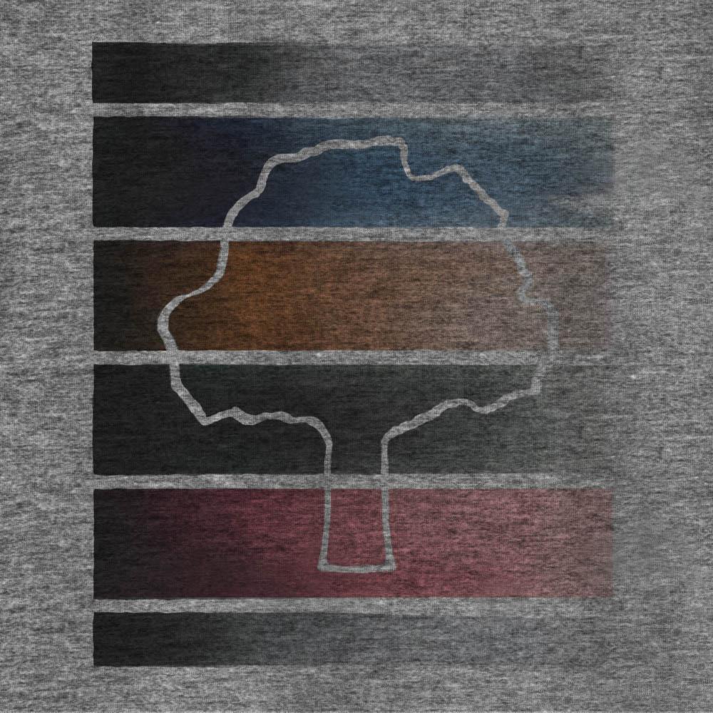 Camiseta Amazônia DEGRADÊ CORES - CINZA ESCURO