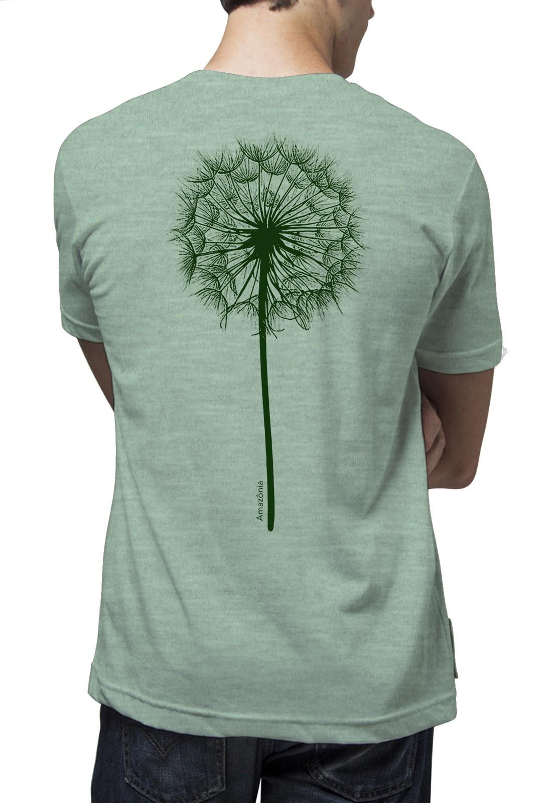 Camiseta Amazônia Dente-de-Leão - Verde Mescla