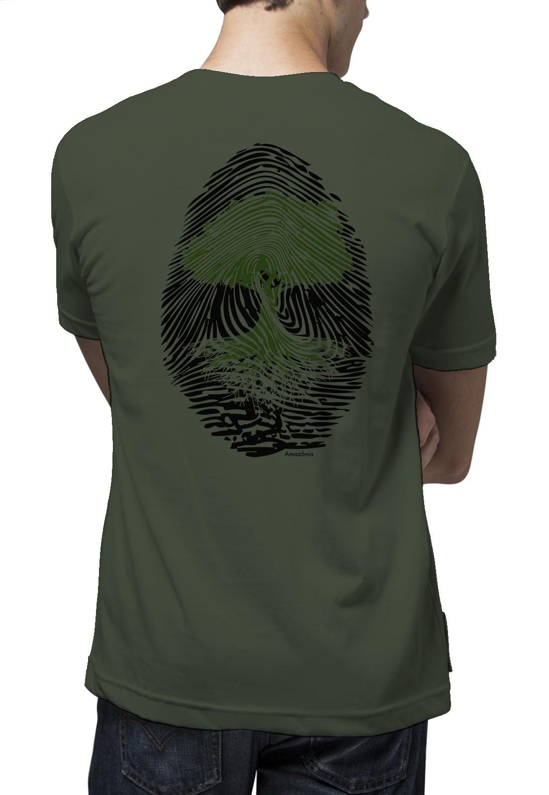 Camiseta Amazônia Digital Árvore - Verde
