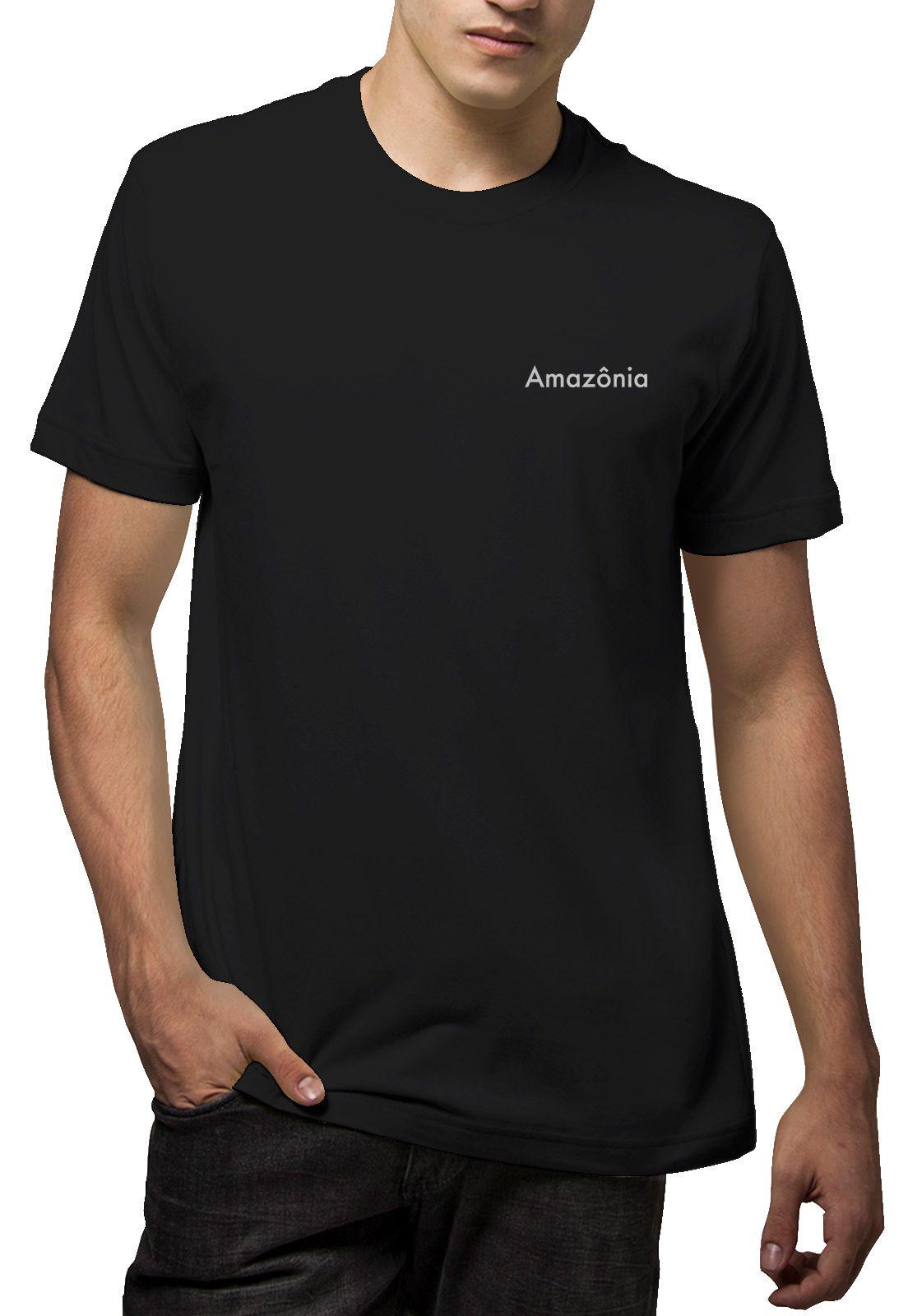 Camiseta Amazônia Duas Araras - Preto