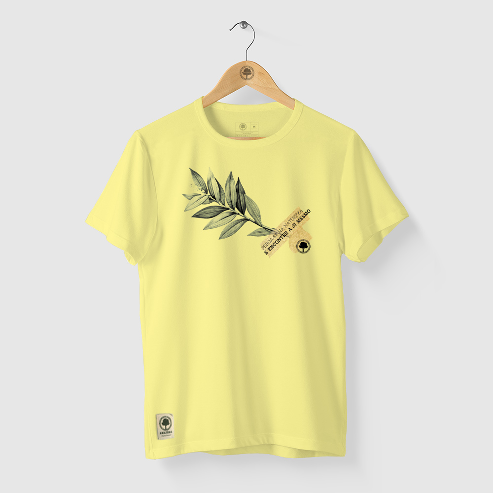Camiseta Amazônia Encontre-se - Amarelo
