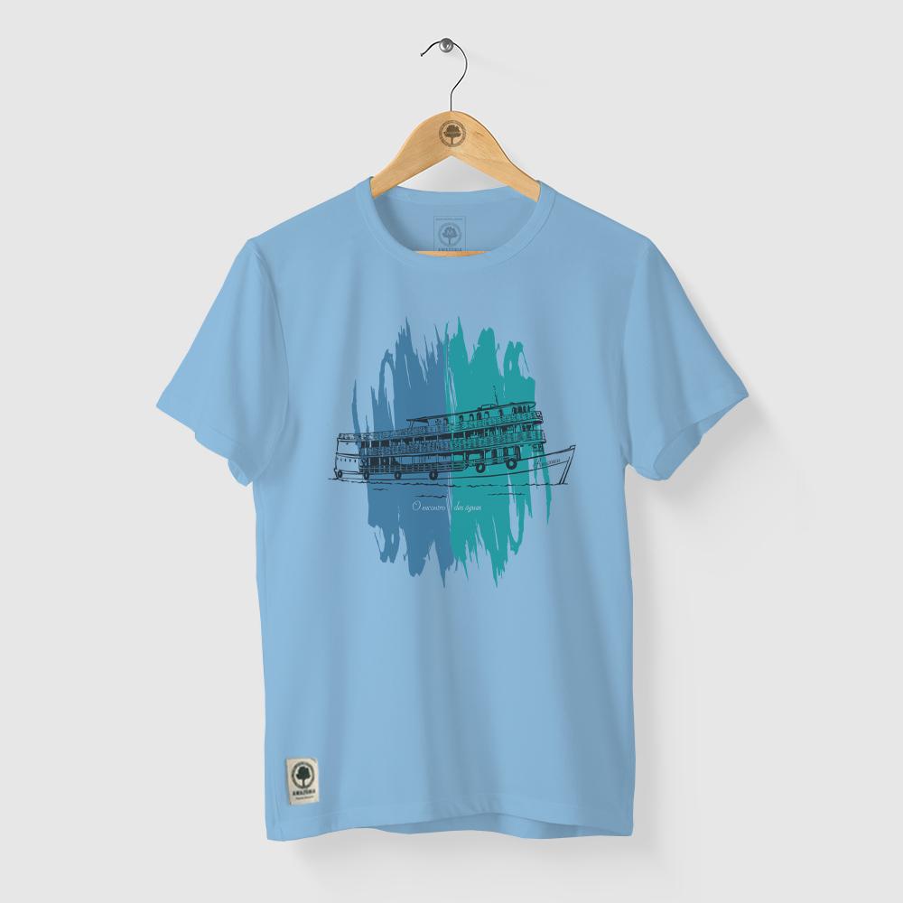 Camiseta Amazônia Encontro das Águas - Azul