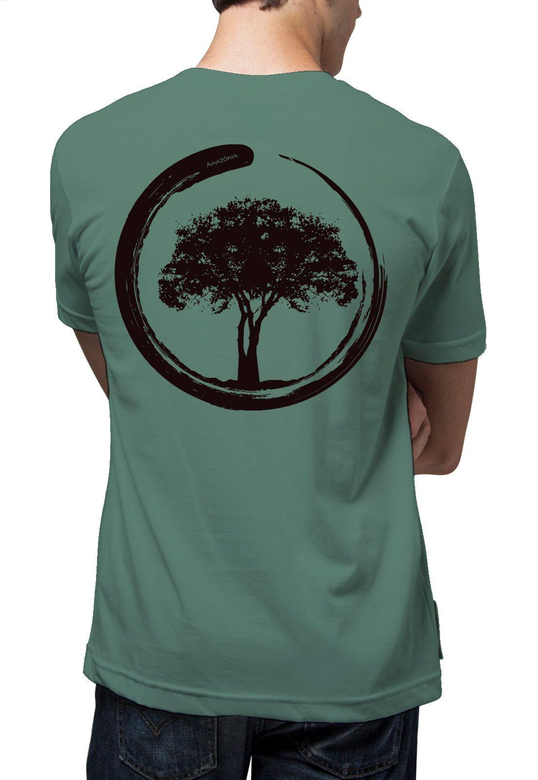 Camiseta Amazônia Energia Árvore - Cinza Escuro