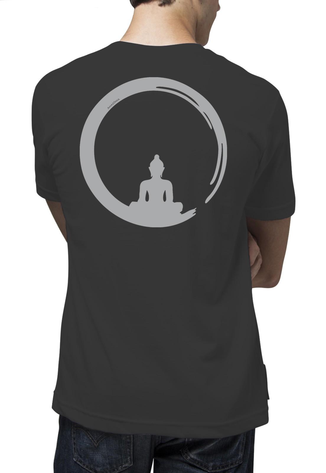 Camiseta Amazônia Energia Buda - Preto