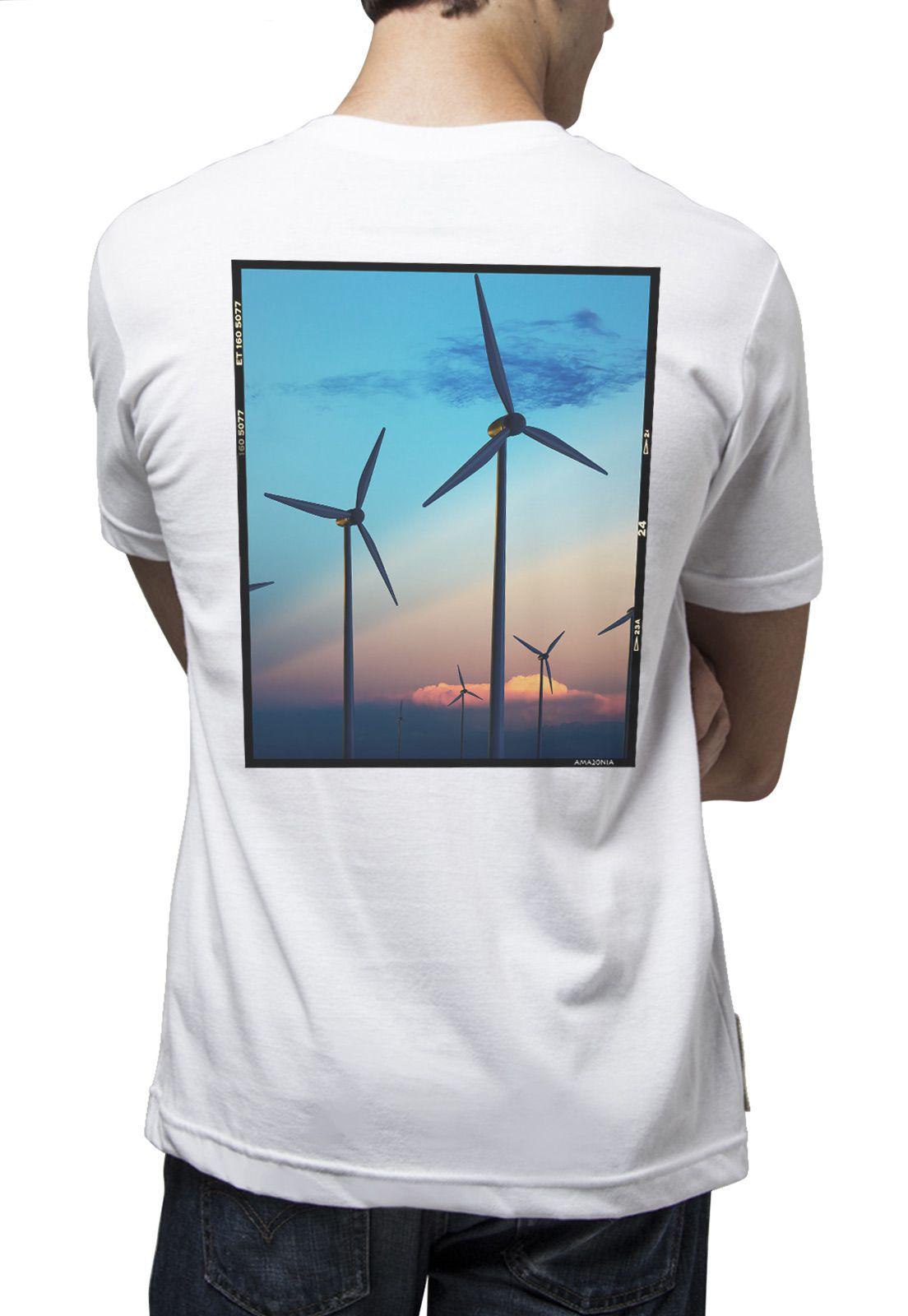 Camiseta Amazônia Energia Limpa - Branco