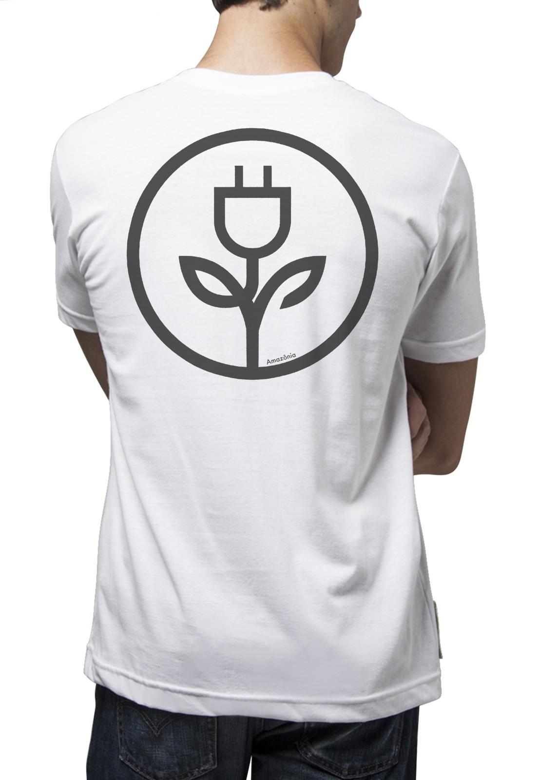 Camiseta Amazônia Energia Verde - Branco