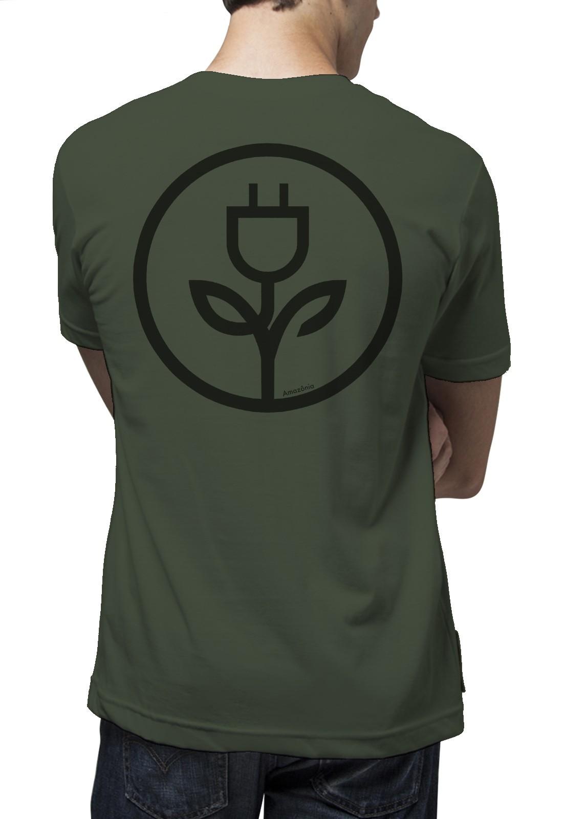 Camiseta Amazônia Energia Verde - Verde Escuro