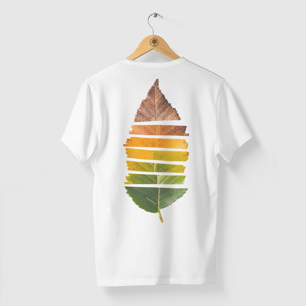 Camiseta Amazônia Estações Folha - Branco