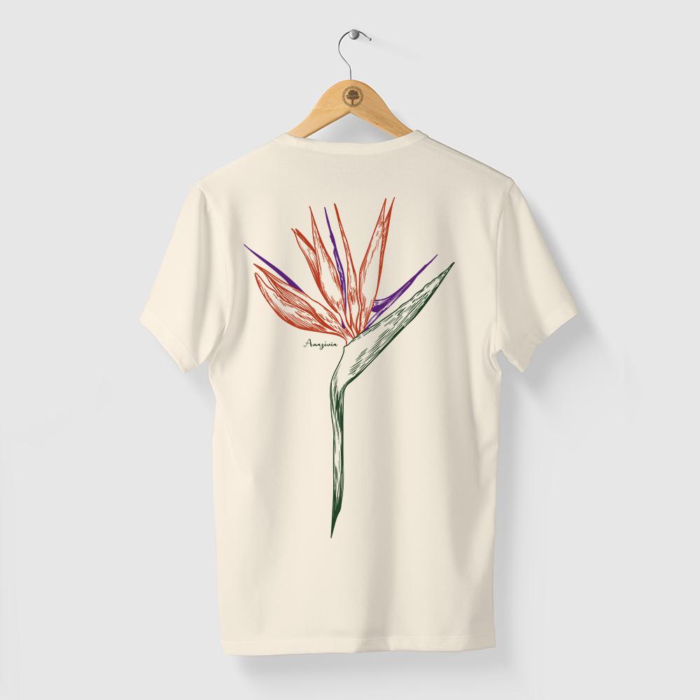 Camiseta Amazônia ESTRELÍCIA - OFF WHITE