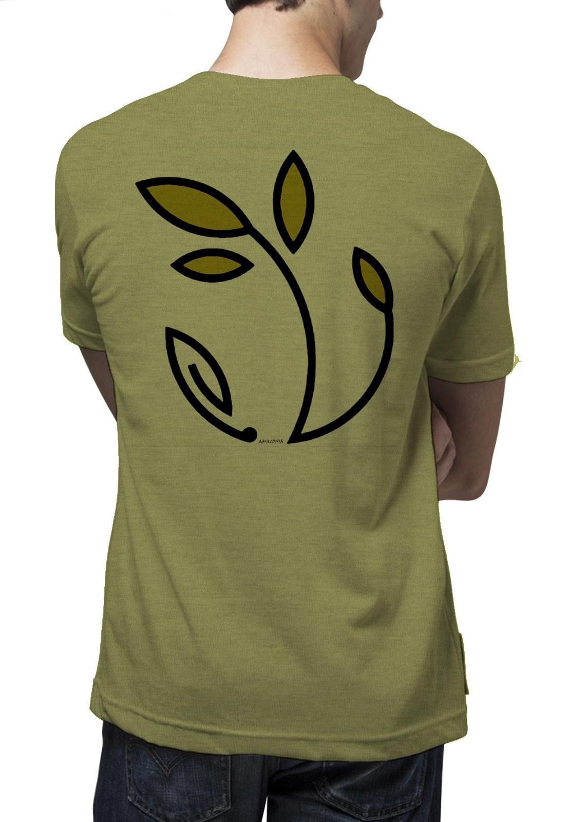 Camiseta Amazônia Eu Refloresto - Mescla Amarelo