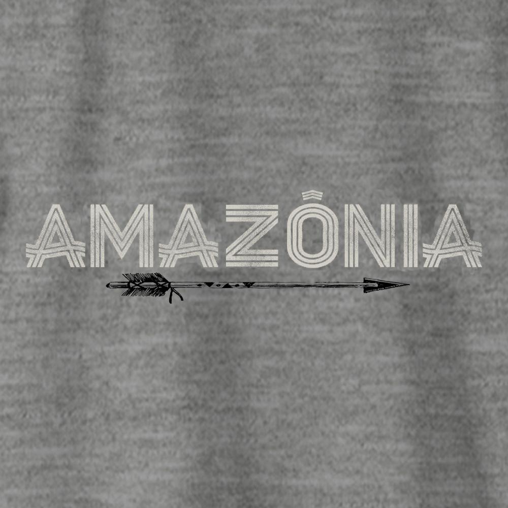 Camiseta Amazônia FLECHA GRÁFICA - MESCLA CINZA