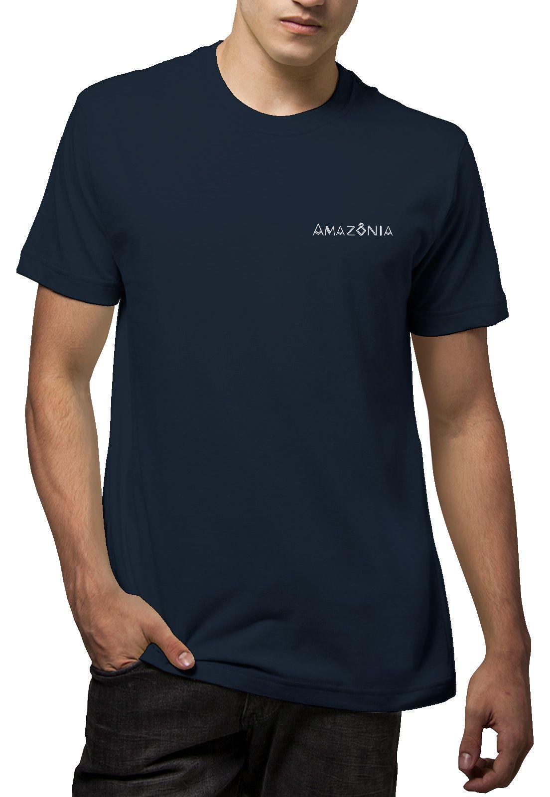 Camiseta Amazônia Flechas - Azul Escuro