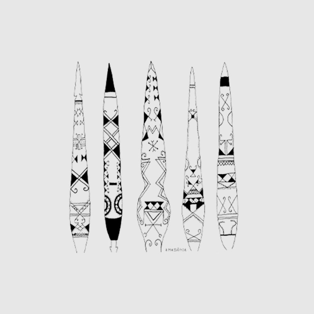 Camiseta Amazônia Flechas Indígenas - Preto