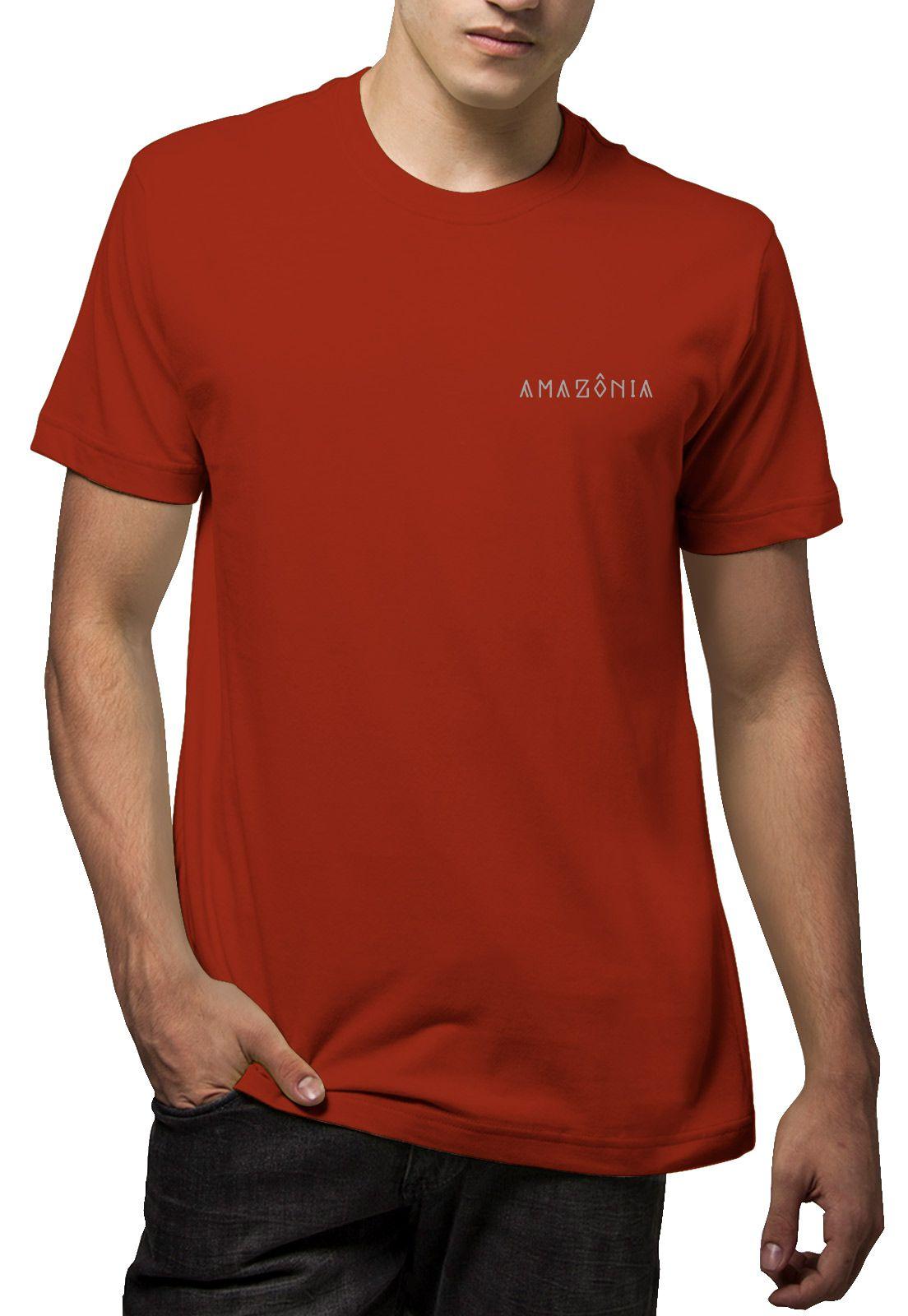 Camiseta Amazônia Flechas Indígenas - Vinho