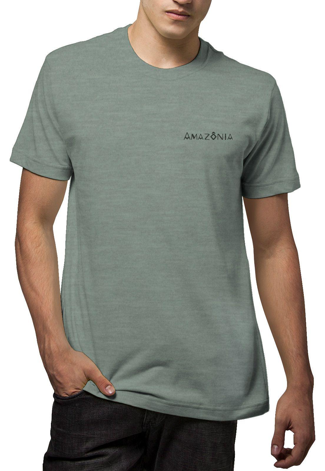 Camiseta Amazônia Flechas - Mescla Verde