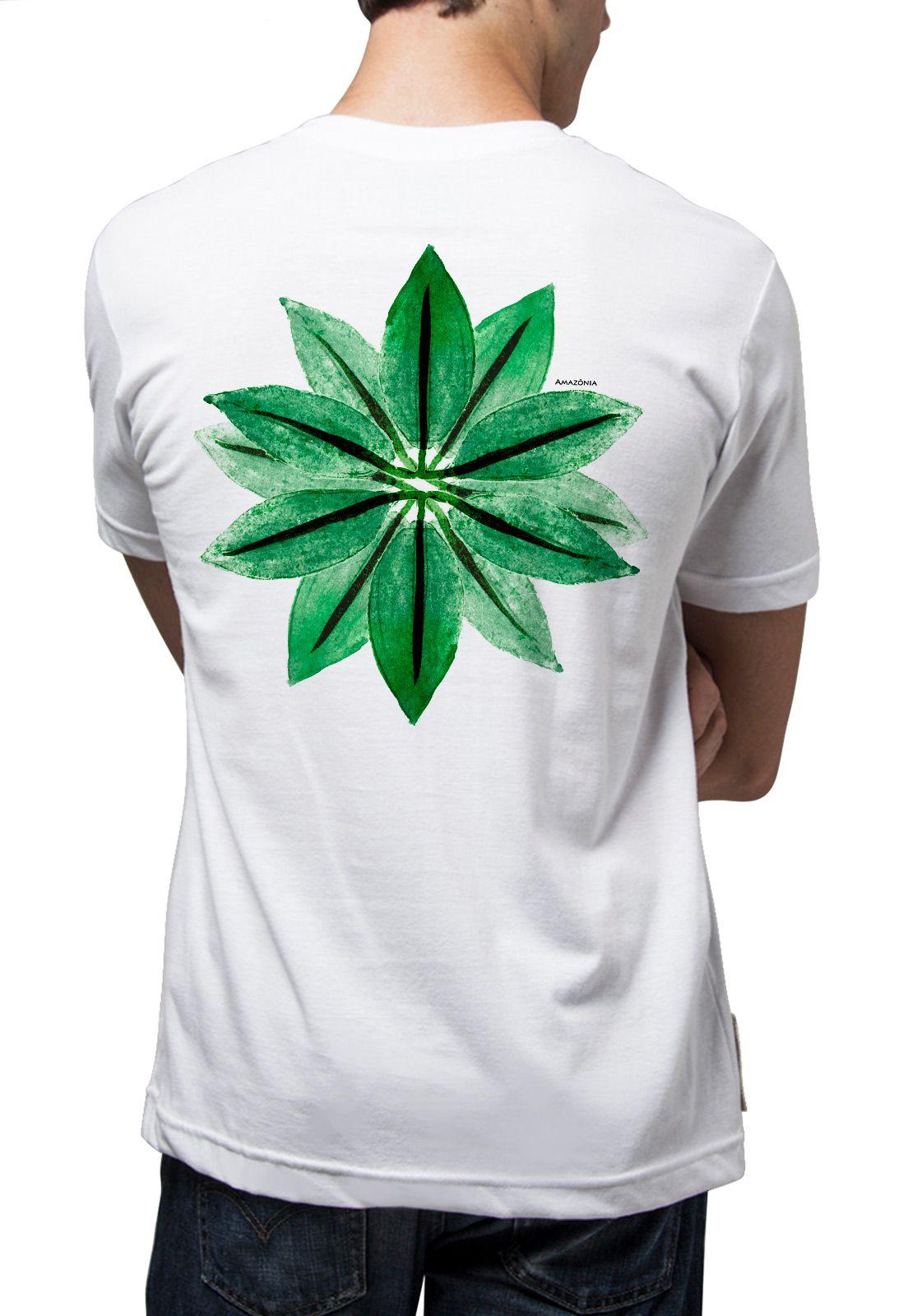 Camiseta Amazônia Flor Amazônica - Branco