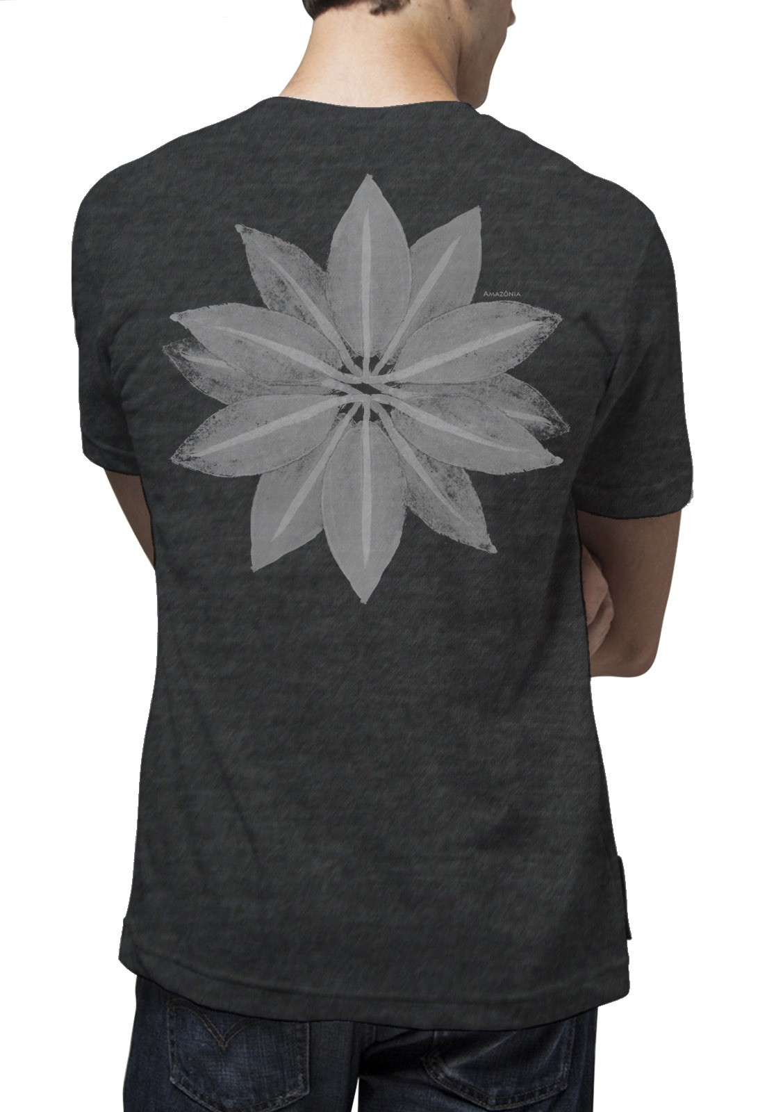 Camiseta Amazônia Flor Amazônica - Mescla
