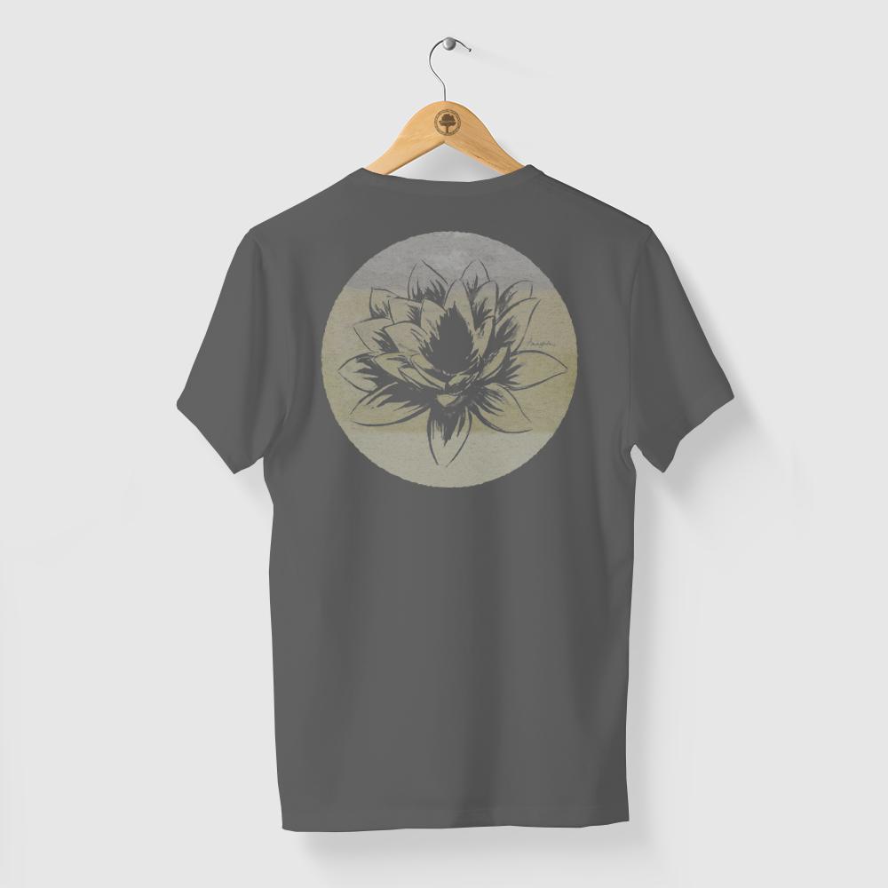 Camiseta Amazônia FLOR AMAZÔNICA - CINZA