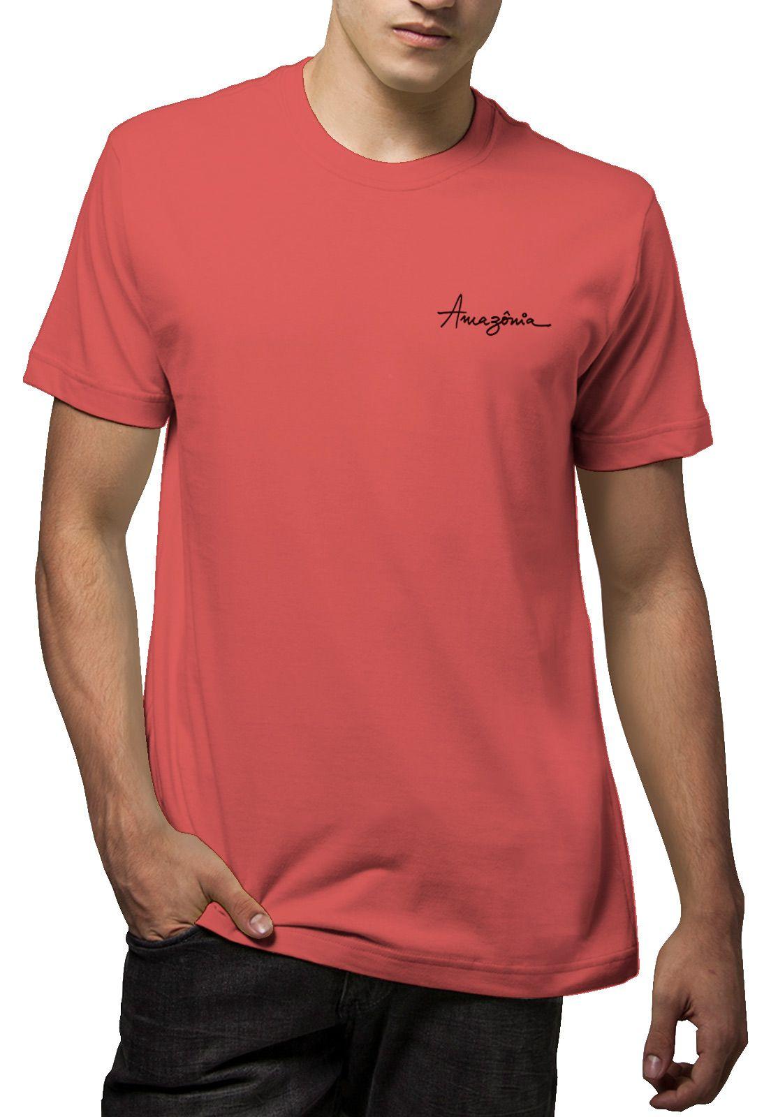 Camiseta Amazônia Flor Cocar - Vermelho