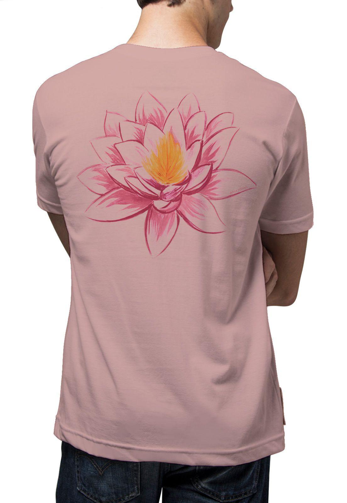 Camiseta Amazônia Flor de Lotus - Rosa