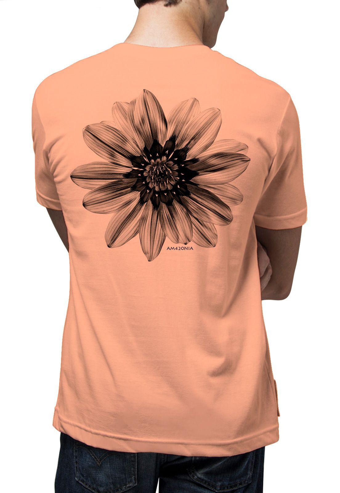 Camiseta Amazônia Flor de Maracujá - Salmão