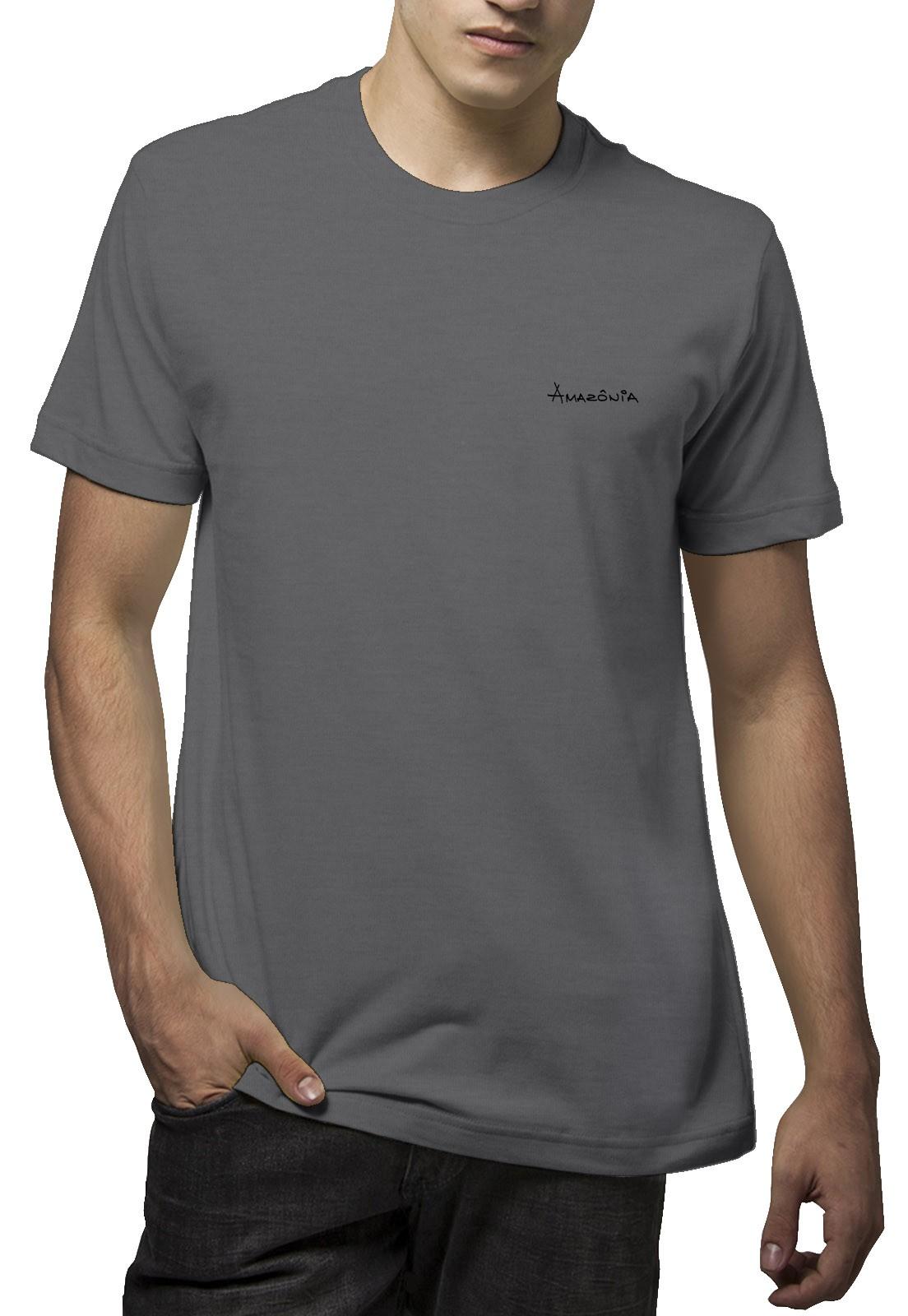 Camiseta Amazônia Flor Roots - Mescla Escuro