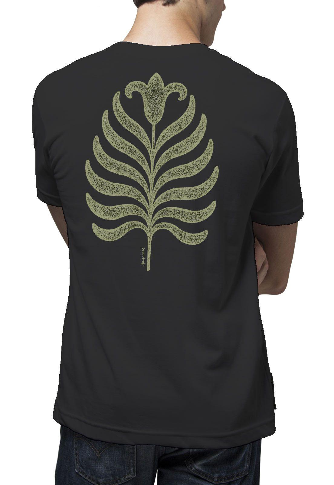 Camiseta Amazônia Flor Roots - Preto