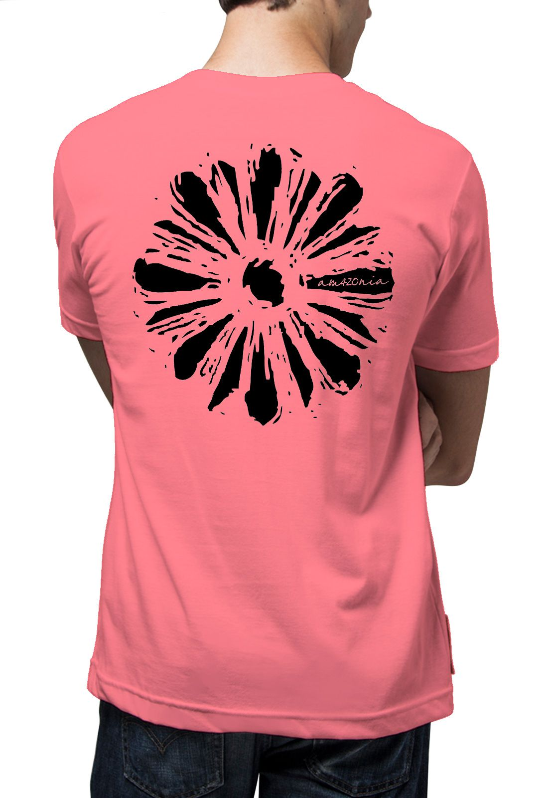 Camiseta Amazônia Flor Simples Roots - Rosa