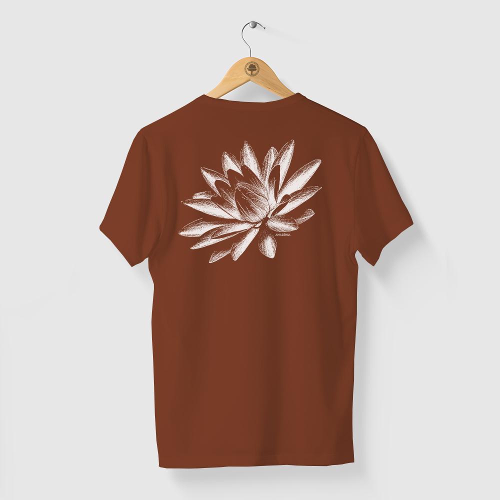 Camiseta Amazônia FLOR VITÓRIA-RÉGIA - MARROM