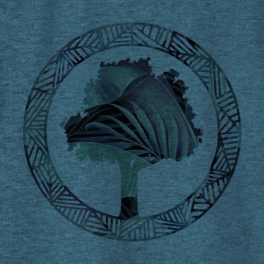 Camiseta Amazônia FLORESTA LOGO - MESCLA AZUL