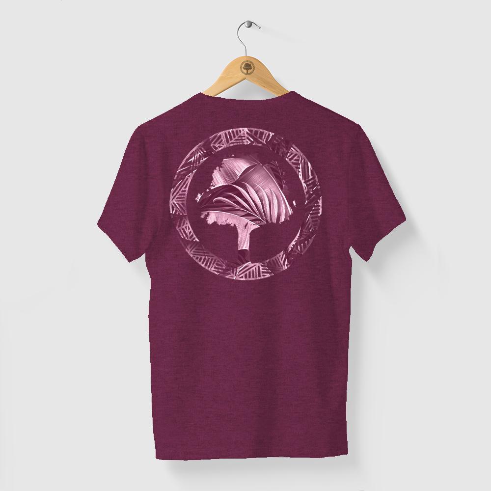 Camiseta Amazônia FLORESTA LOGO - MESCLA VINHO