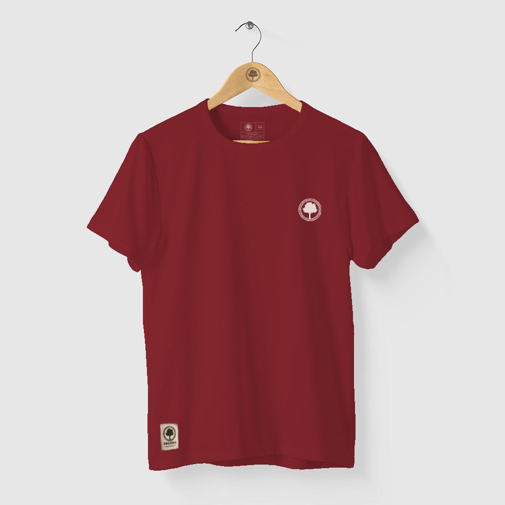 Camiseta Amazônia FLORESTA LOGO - VERMELHO