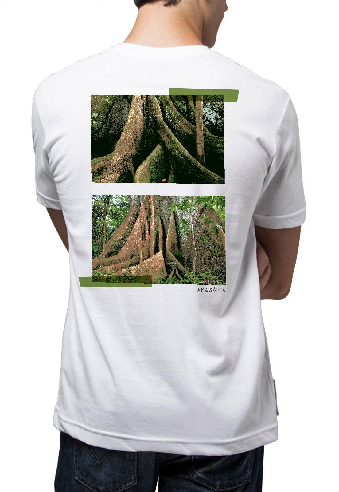 Camiseta Amazônia Floresta Sumaúmas - Branco
