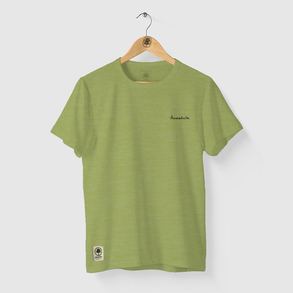 Camiseta Amazônia Flower - Mescla Amarelo