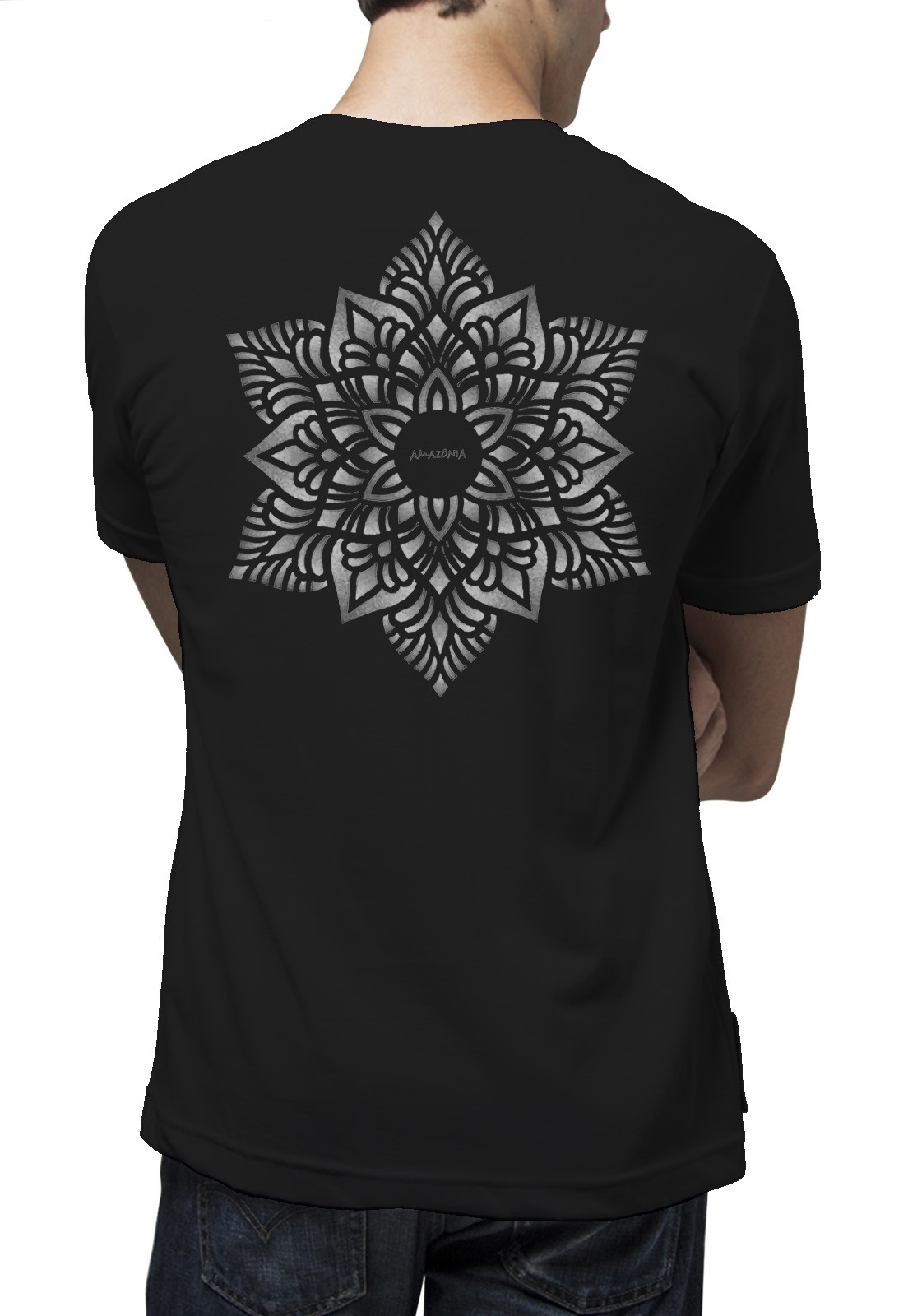 Camiseta Amazônia Flower - Preto