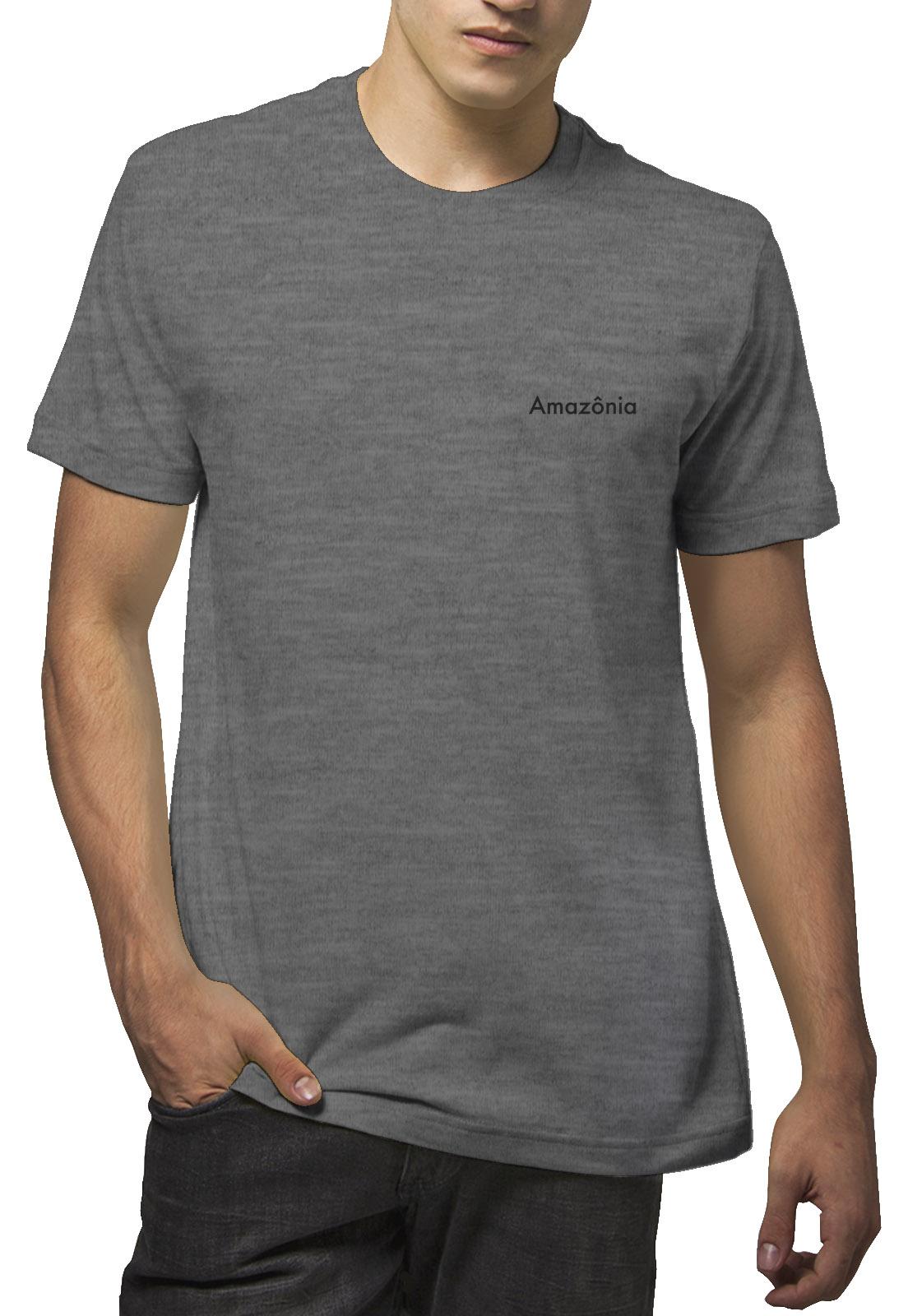 Camiseta Amazônia Folha - Mescla Escuro