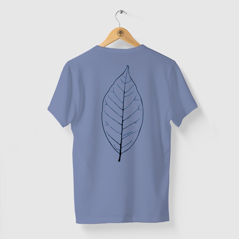 Camiseta Amazônia Folha Traços - Azul