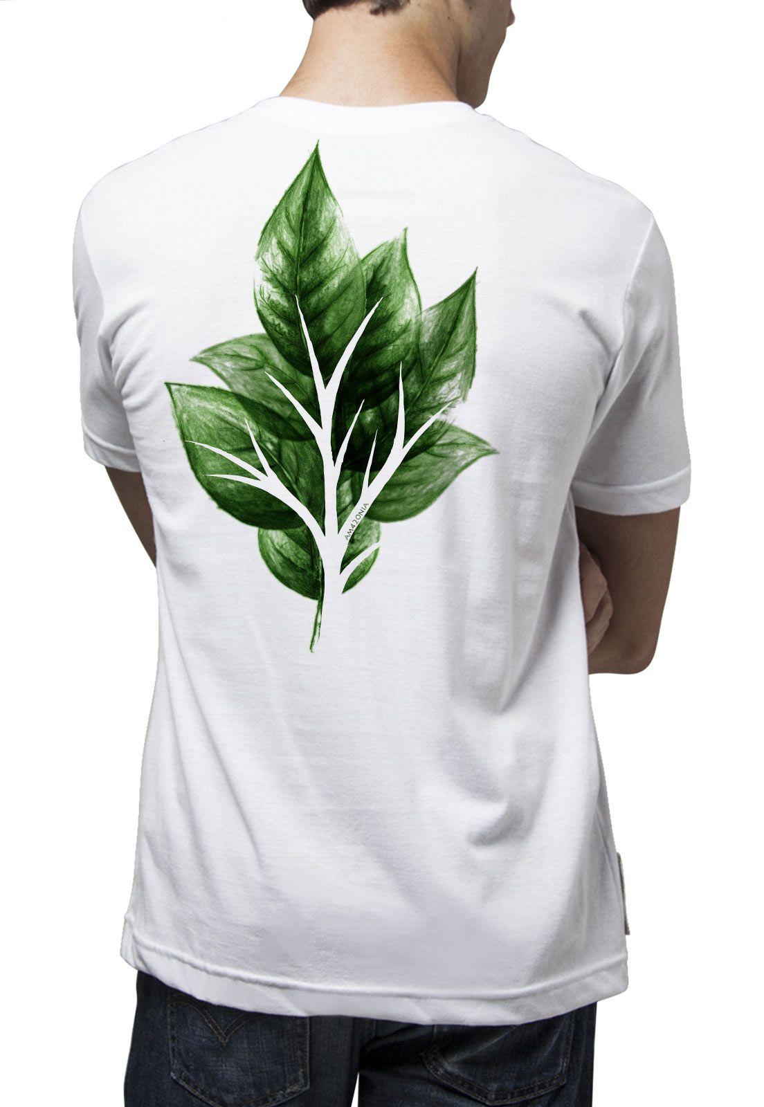 Camiseta Amazônia Folha Vazada - Branco