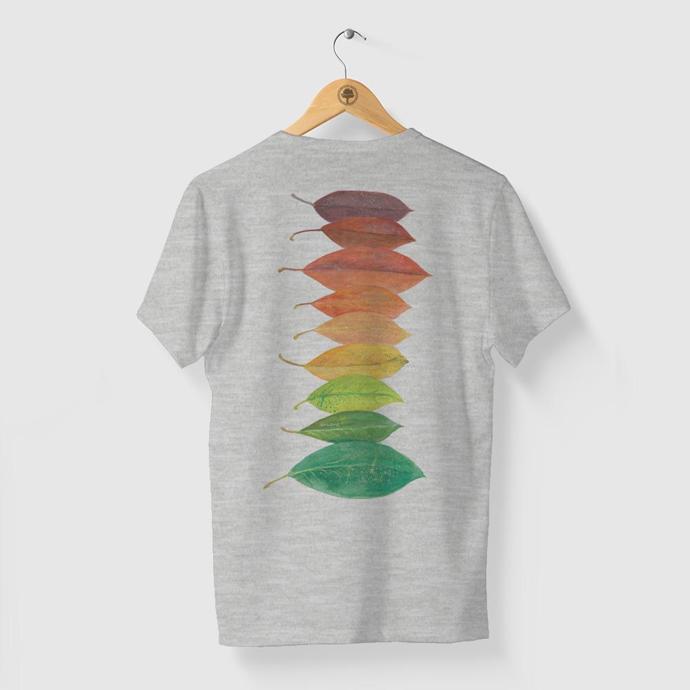 Camiseta Amazônia Folhas da Amazônia - Mescla Claro