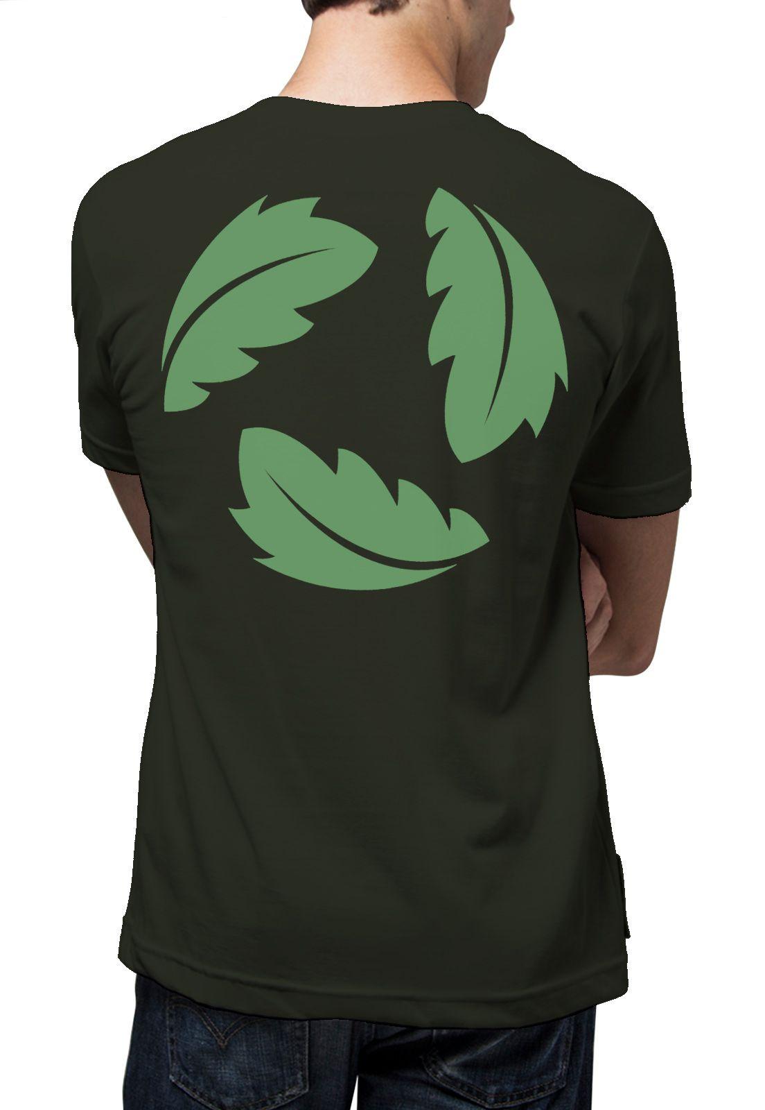 Camiseta Amazônia Folhas Recicle - Verde Escuro