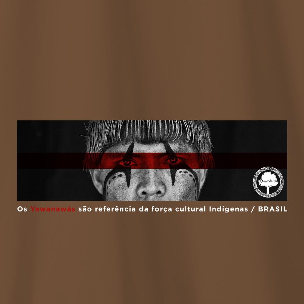 Camiseta Amazônia Força Indígena - Marrom