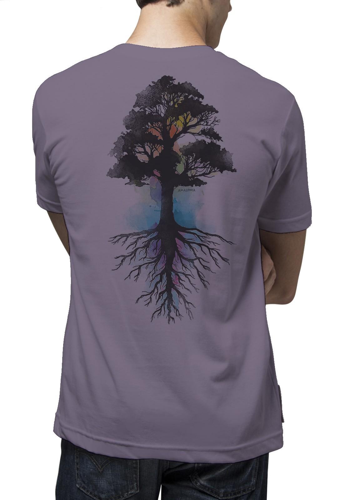 Camiseta Amazônia Força Natural - Lilás