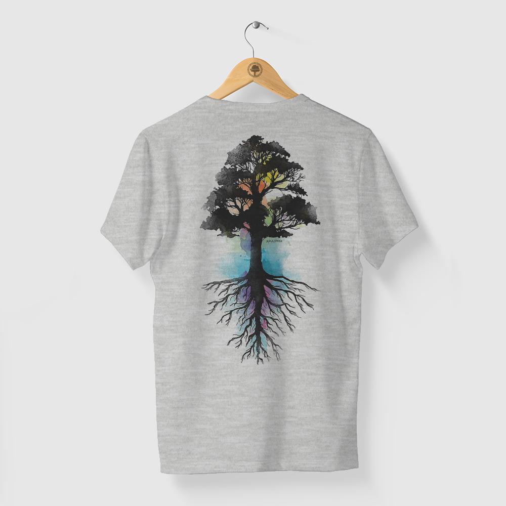 Camiseta Amazônia Força Natural - Mescla Claro