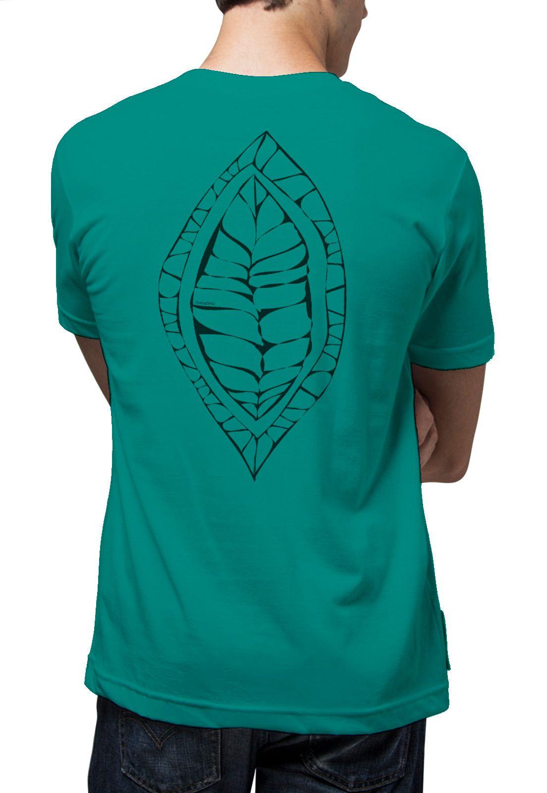 Camiseta Amazônia Fruto Semente - Verde