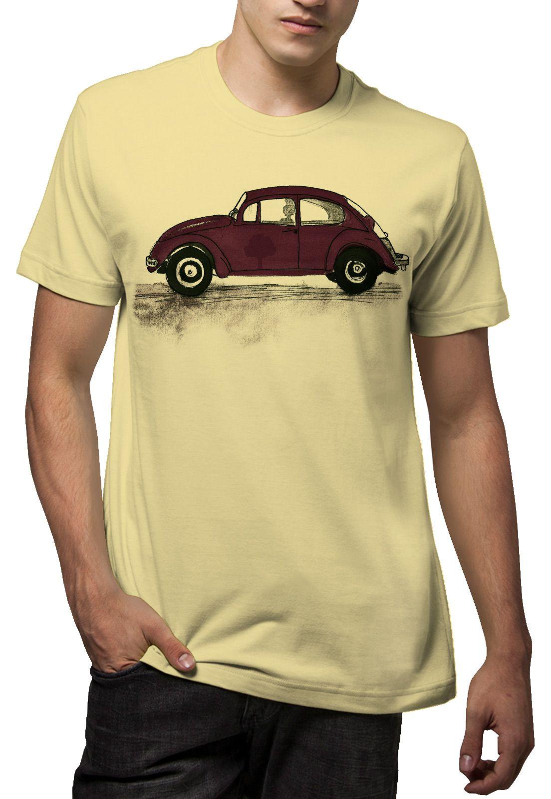 Camiseta Amazônia Fusca  - Amarelo