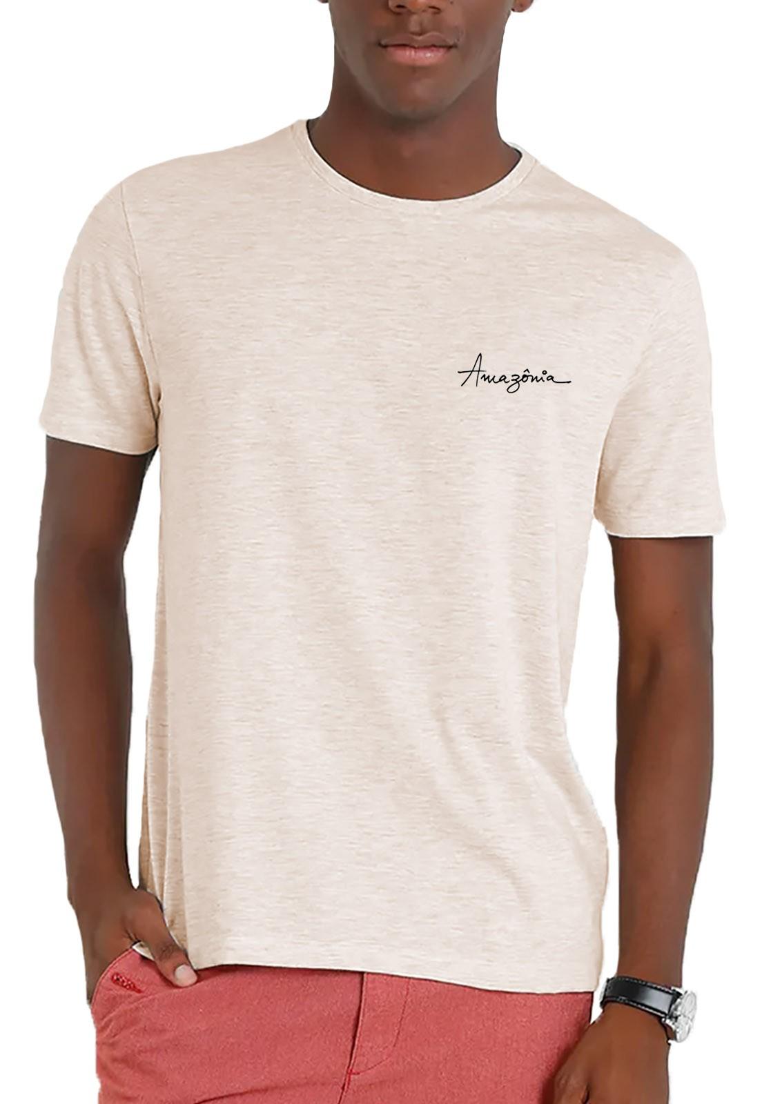 Camiseta Amazônia Garrafa Pet Animais Extinção - Off White
