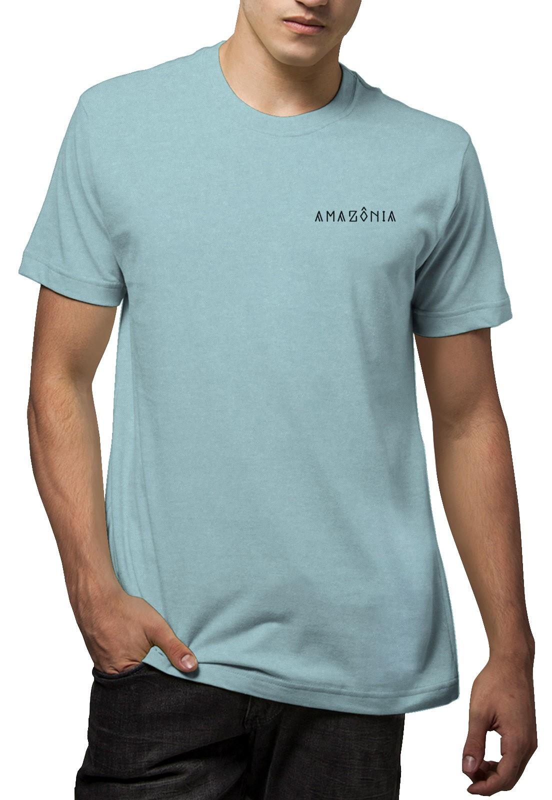 Camiseta Amazônia Garrafa Pet Árvore da Vida - Azul
