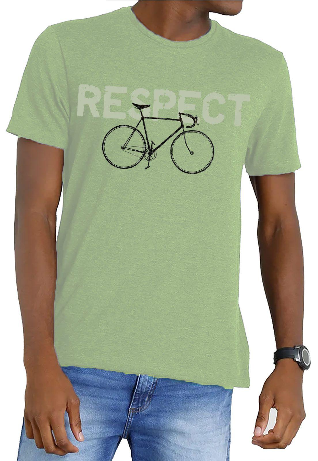 Camiseta Amazônia Garrafa Pet Bike Respect - Verde