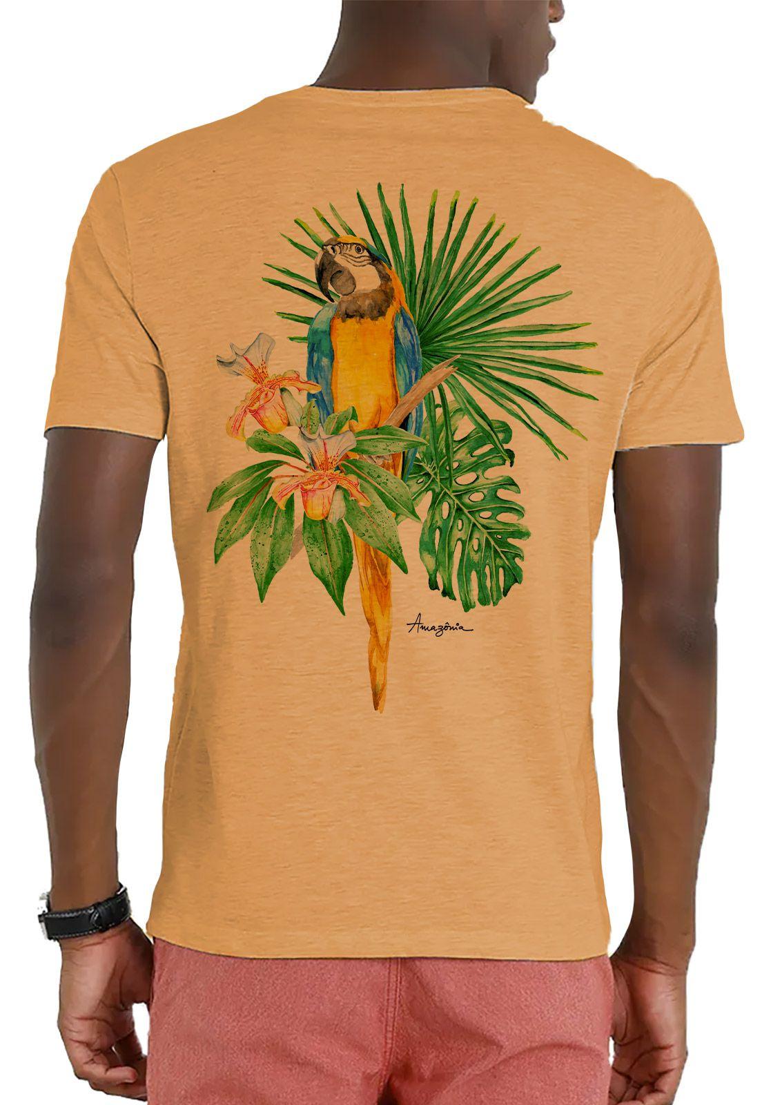 Camiseta Amazônia Garrafa Pet Bio Arara - Amarelo