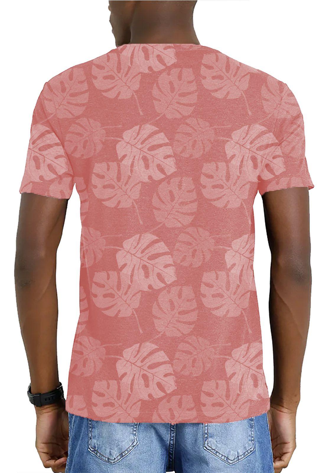 Camiseta Amazônia Garrafa Pet Corrido Costela de Adão - Salmão